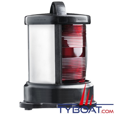 Vetus - Feu tout horizon blanc  (montage sur socle) boîtier noir (ampoule non fournie)