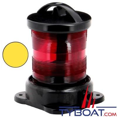 Vetus - Feu tout horizon jaune (montage sur socle ) boîtier noir (ampoule non fournie)