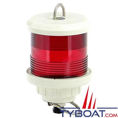 VETUS - Feu tout horizon rouge(à hisser)boîtier blanc (ampoule non fournie)