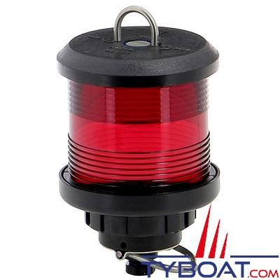 VETUS - Feu tout horizon rouge (à hisser) boîtier noir(ampoule non fournie)