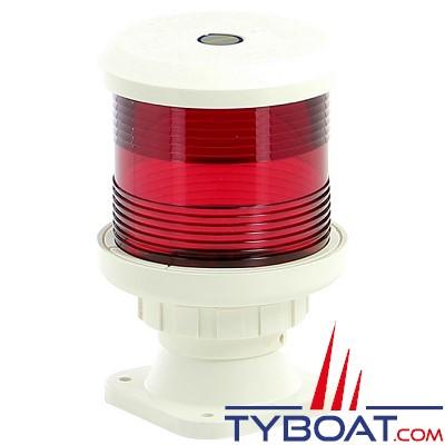 VETUS - Feu tout horizon rouge (montage sur socle) boîtier blanc (ampoule non fournie)