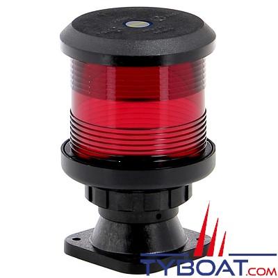 VETUS - Feu tout horizon rouge (sur socle) boitier noir (ampoule non fournie)