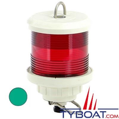 VETUS - Feu tout horizon vert (à hisser)boîtier blanc (ampoule non fournie)