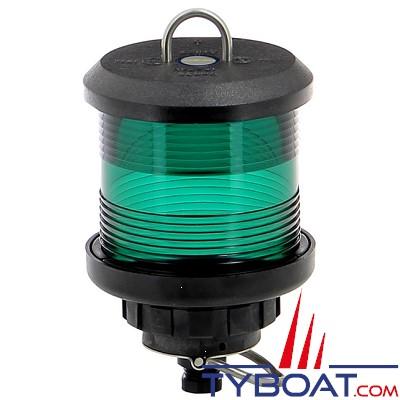VETUS - Feu tout horizon vert (à hisser) boîtier noir(ampoule non fournie)