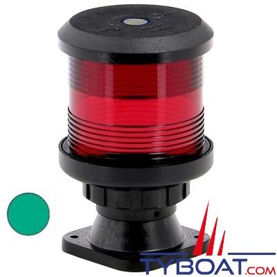 VETUS - Feu tout horizon vert (sur socle) boîtier noir (ampoule non fournie)