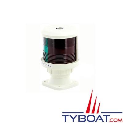 VETUS - Feu tricolore (montage sur socle) boîtier blanc (ampoule non fournie)