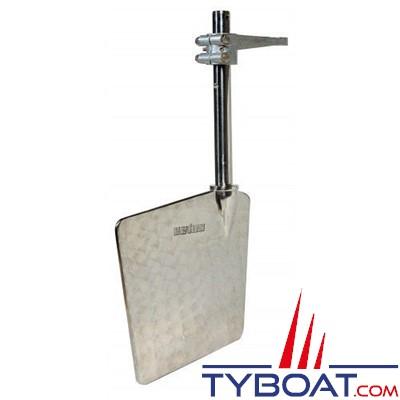 VETUS - Gouvernail en acier inoxydable L= 400 mm bras de mèche inclus