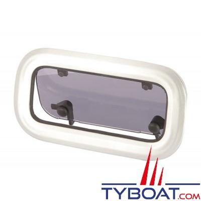 VETUS - Hublot aluminium anodisée type PA  315 x 180 mm + moustiquaire
