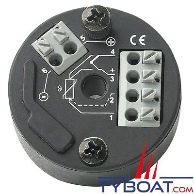 VETUS - Indicateur de consommation d'énergie 12/24 Volts inclus shunt pour 200 Ampères Ø. Ø 52 mm. Blanc