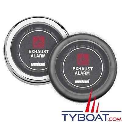 VETUS - Indicateur pour alarme de température d'échappement 12 Volts noir