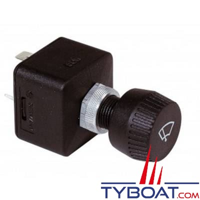 VETUS - Interrupteur à rotation 3 positions pour moteur d'essuie-glaces (2 vitesses et position parking)