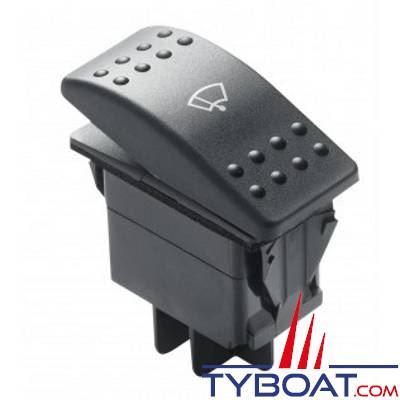 VETUS - Interrupteur à bascule 3 positions pour moteurs d'essuie-glaces (2 vitesses et position parking)