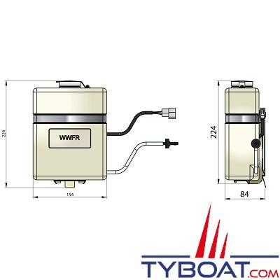 VETUS - Kit complet de lavage pare brise incluant réservoir et pompe 12 Volts