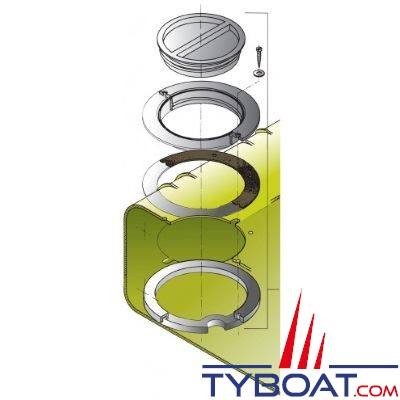 VETUS - Kit d'inspection réservoir rigide à eau (contrepartie et joint inclus)