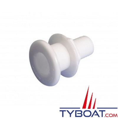 VETUS - Passe coque droit arrondi Delrin G1 pour tuyau Ø 25 mm