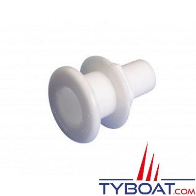 VETUS - Passe coque droit arrondi Delrin G5/8 pour tuyau Ø 16 mm