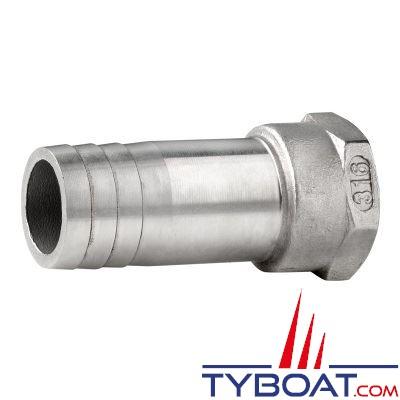 VETUS - Raccord annelé inox  femelle G3/8'' pour tuyau de 15 mm
