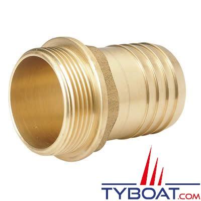 VETUS - Raccord annelé laiton G3/8- 10 mm