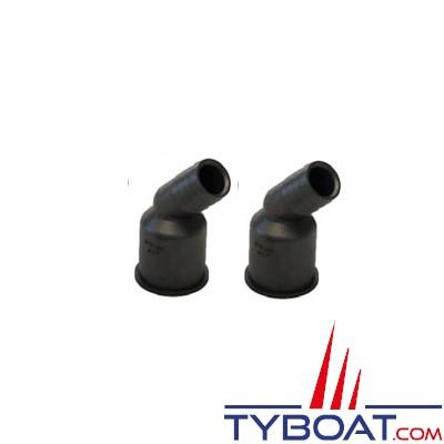 VETUS - Raccords plastiques Ø 25mm pour Y3V, Y3C et YNRE - 2 pièces