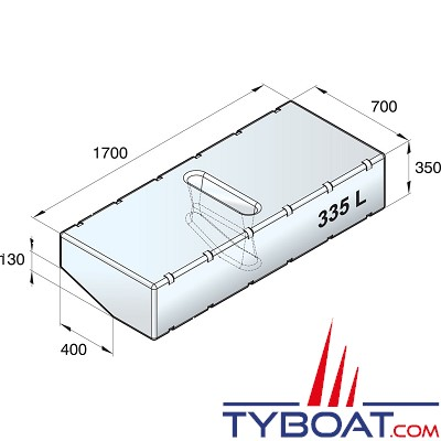 VETUS - Réservoir sanitaire   335 l   (kit d'installation exclus)