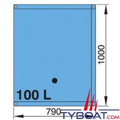 vetus r servoir souple 100 l eau rectangulaire raccords coud s 16 et 38 mm inclus. Black Bedroom Furniture Sets. Home Design Ideas