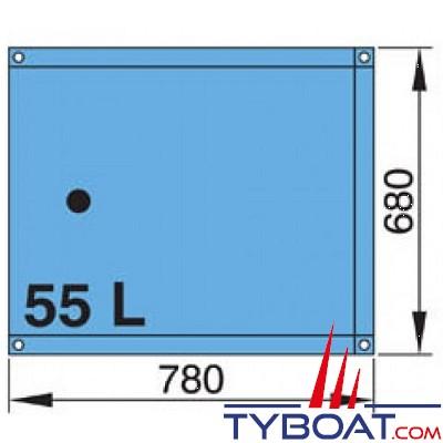 vetus r servoir souple 55 l eau rectangulaire raccords coud s 16 et 38 mm inclus vetus. Black Bedroom Furniture Sets. Home Design Ideas