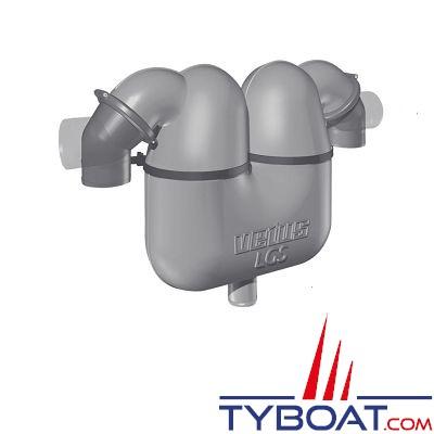VETUS - Séparateur gaz d'échappement 50 avec raccord 95 mm orientables à 360°