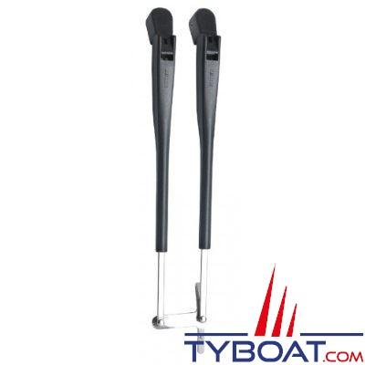 VETUS - RWADX - Set bras d'essuie glace parallèles - Longueur 386 - 471 mm - Montage en RWA