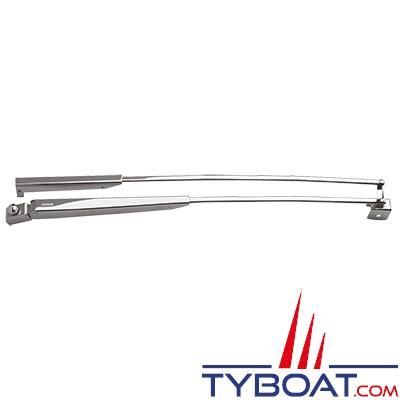 VETUS - SHDA760 - Bras de balais d'essuie glace pantographe en acier inoxydable - Longueur 762 mm