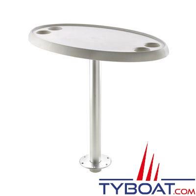 VETUS - Table ovale 76 x 45 cm pied amovible hauteur 68 cm