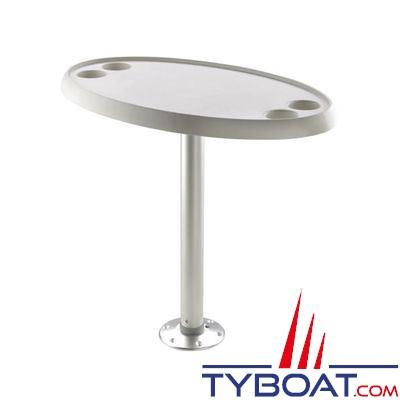 VETUS - Table ovale 76 x 45 cm  pied fixe  hauteur 68 cm