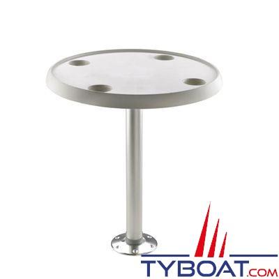 VETUS - Table ronde 60 cm  hauteur fixe 68 cm