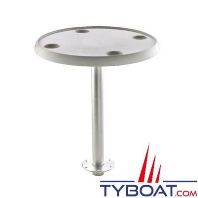 VETUS - Table ronde 60 cm pied amovible hauteur 68 cm