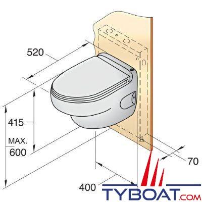 vetus toilette type hato avec syst me de pompe 120 volts. Black Bedroom Furniture Sets. Home Design Ideas