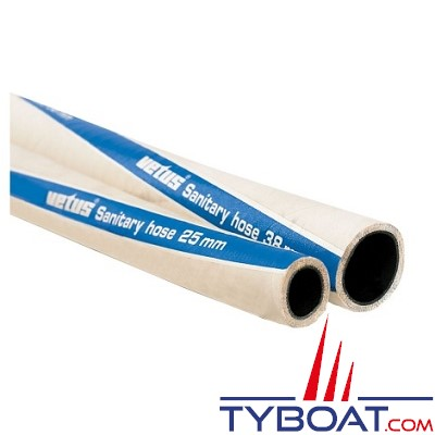 VETUS - Tuyau sanitaire imperméable anti odeur type SAHOSE 19mm - au mètre