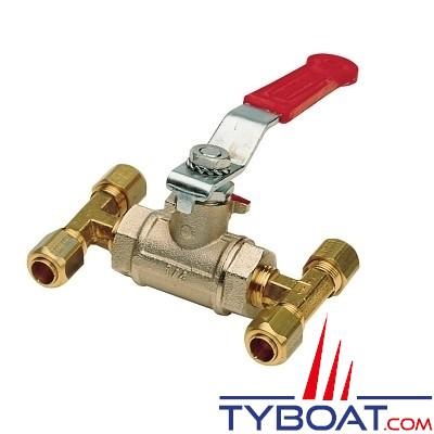 Vetus - Vanne by-pass pour tuyau nylon - Ø 10 mm - Direction hydraulique