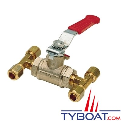 Vetus - Vanne by-pass pour tuyau nylon - Ø 8 mm - Direction hydraulique