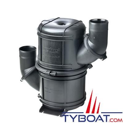 VETUS - Waterlock HEAVY DUTY noir type NLP45 avec entrée et sortie orientables pour tuyau 45 mm