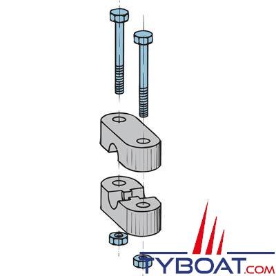 Arrêt de gaine synthétique pour câble type 33C et LF