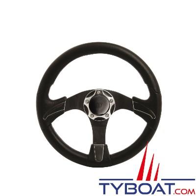 Volant Noctis - Série SW - insert. Polyuréthane Noir et Chrome -  Ø 350mm