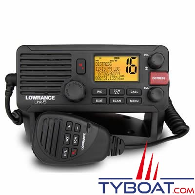 vhf marine fixe tanche lowrance link 5 asn classe d nmea0183 25 watts lowrance lw000 10788 001. Black Bedroom Furniture Sets. Home Design Ideas