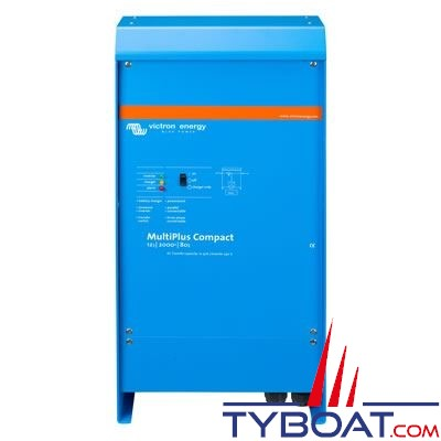 VICTRON ENERGY - Chargeur - Convertisseur Multiplus Compact 12 Volts 2kVA (1600 Watts) 80 Ampères 230 Volts commutateur de transfert 30A