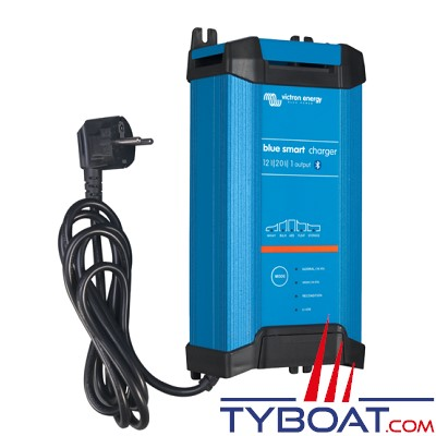 VICTRON ENERGY - Chargeur de batterie Blue Smart 12 Volts 20 ampères 3 sorties / entrée 180-265VAC/45-65Hz IP22