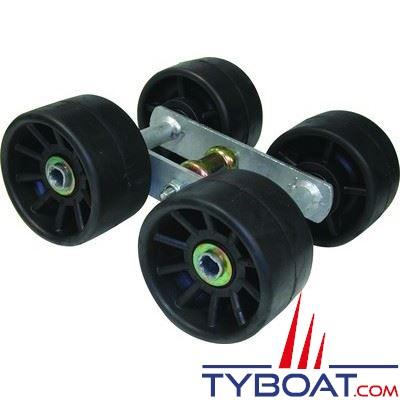 4 galets montés sur balancier Ø 120 mm