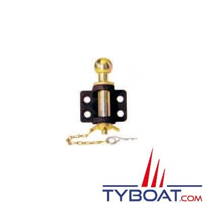 Crochet mixte avec chappe 4 trous boule Ø 50mm axe Ø 32mm traction 7 T