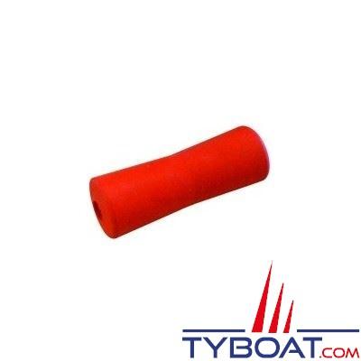 Diabolo petit modèle 050 rouge L 200 x Ø 70/60 mm - alésage Ø 22mm
