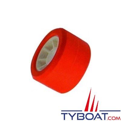 Galet bi-matière polyamide rouge Ø 120 mm alésage Ø 21mm