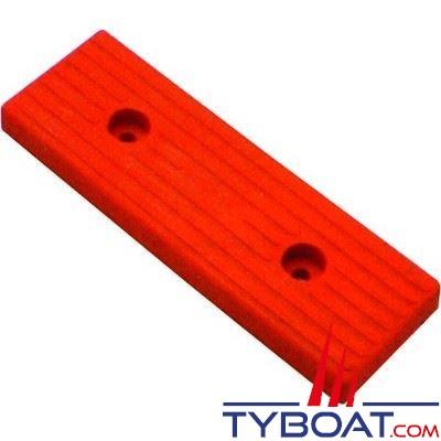 Patin grand modèle 020 rouge L 300 x lg 100 mm