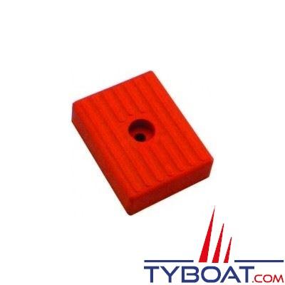 Patin petit modèle 010 rouge L 130 x lg 100 mm