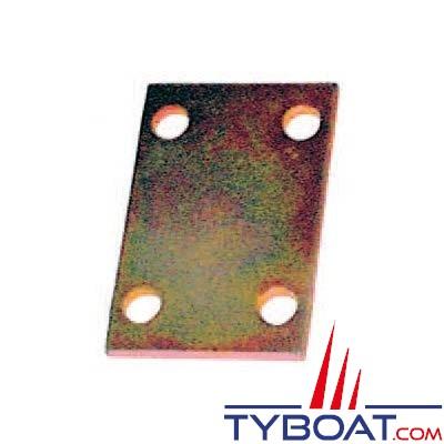 Plaquette d'assemblage 4 trous 80x135mm pour bride 40x40 ou 100x50